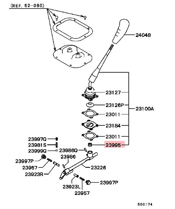 M/t Cambio Equip Boccola Per Mitsubishi Pajero Montero Io