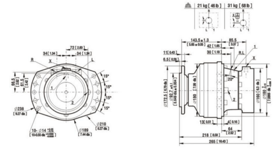 Replace Poclain Ms02 Mse02 Radial Piston Hydraulic Engine