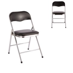 Folding Chair Leg Covers Swivel Singapore Pu Leather Cover Chromed Metal Buy