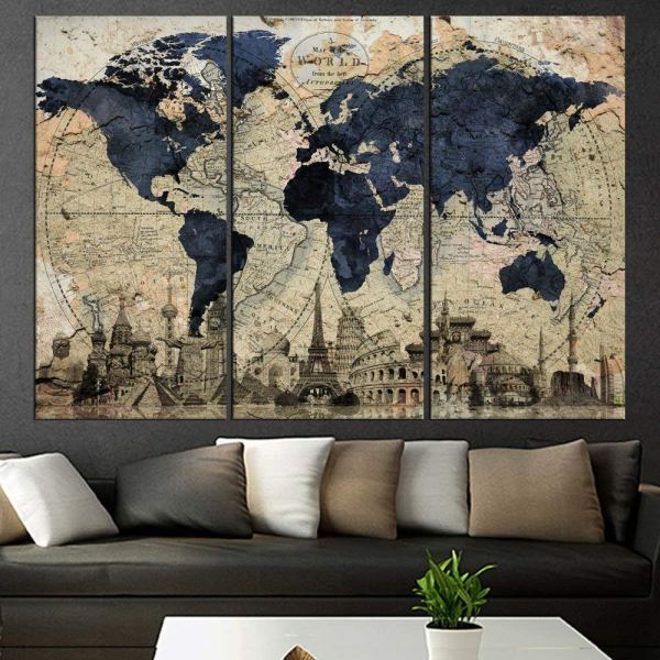 Giant World Megamap Huge Wall Map - Paper With Front Sheet Lamination In Cheap