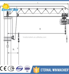 5 ton slewing column fixed type workstation portable crane jib crane [ 1000 x 1000 Pixel ]