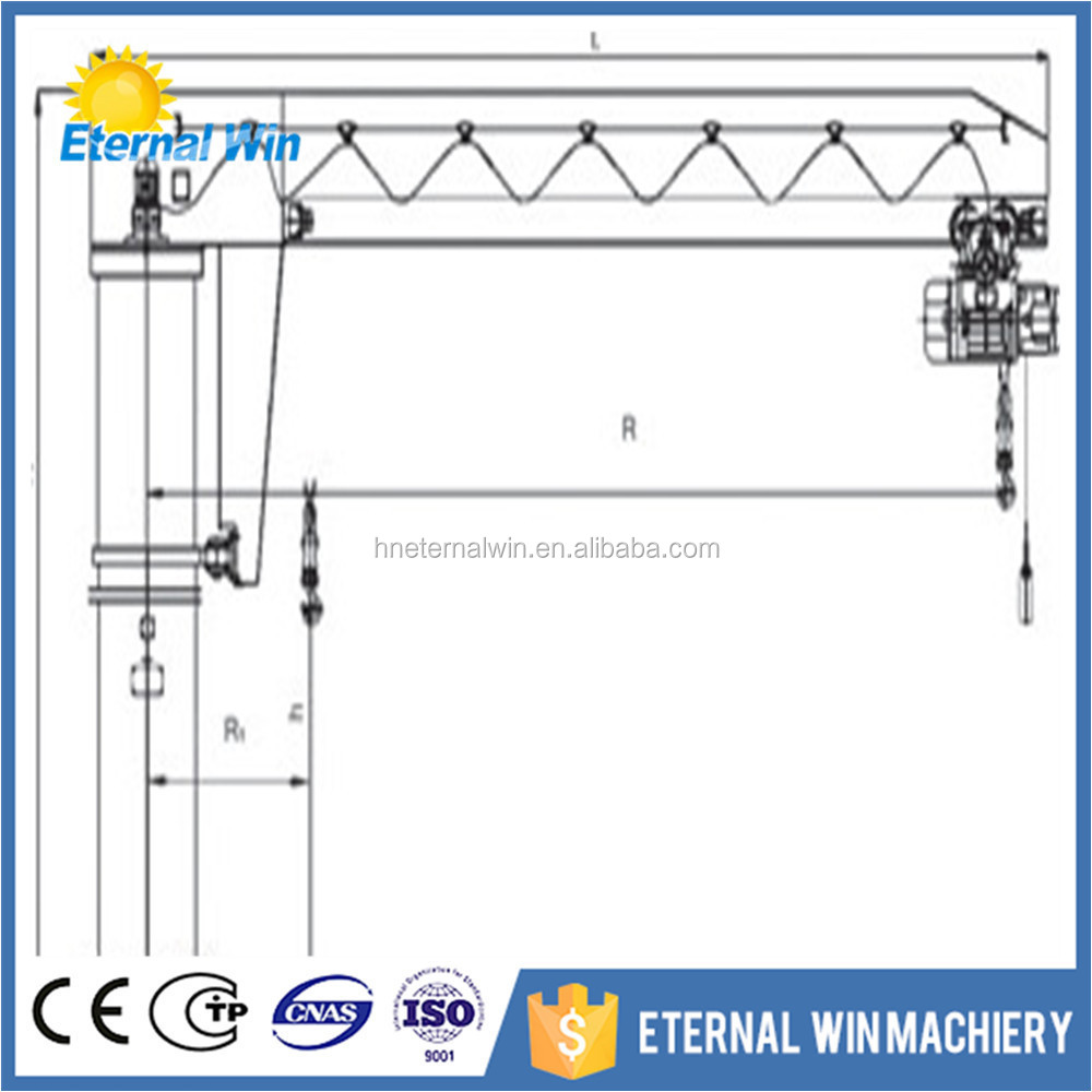 hight resolution of 5 ton slewing column fixed type workstation portable crane jib crane