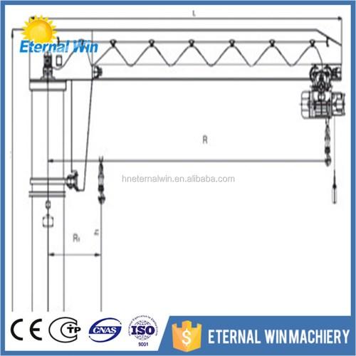 small resolution of 5 ton slewing column fixed type workstation portable crane jib crane
