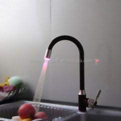 Led Kitchen Faucet Aid Mixer Deals Black 3 Color Changing