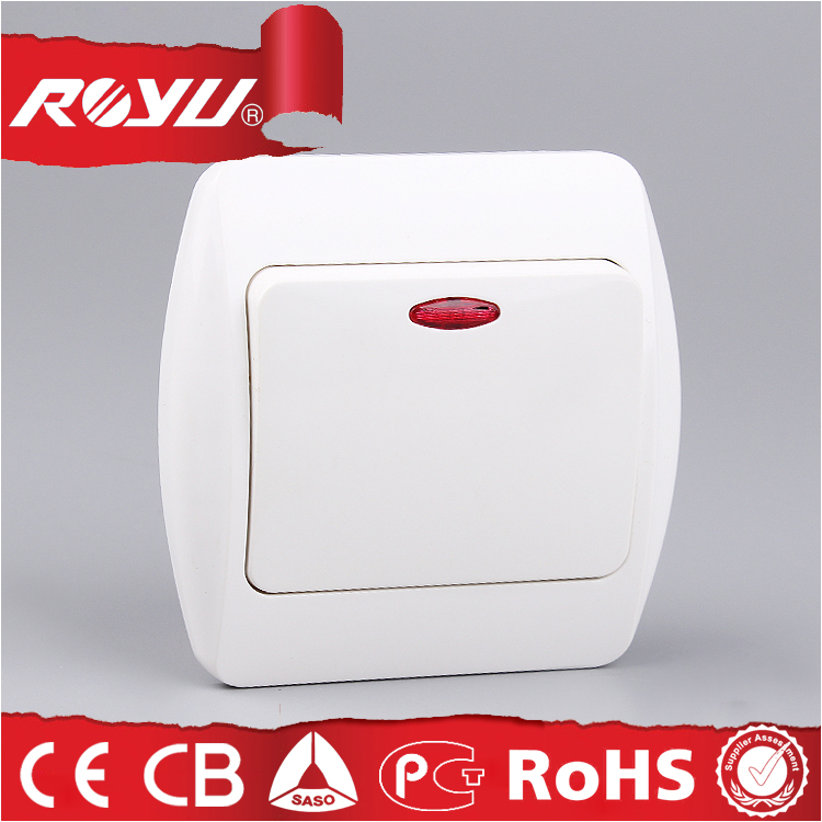 Electric Wall Switch With Led Indicator Light,Abs Material