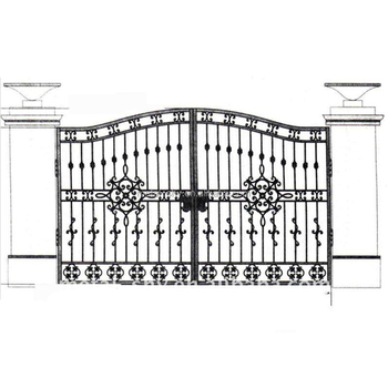 Wrought Iron Gate Grill,Ornamental Iron Grill For Gate