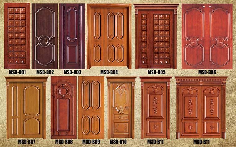 Ghana Simple Teak Wood Door House Door Designs