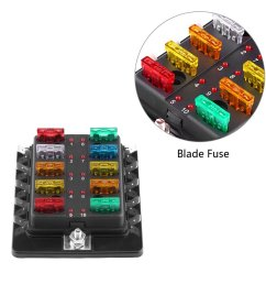 get quotations 10 way blade fuse box with led light keenso blade fuse box holder with led [ 1001 x 1001 Pixel ]