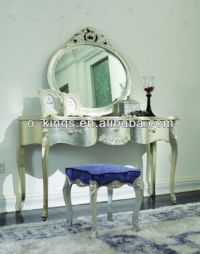 Neoclassic Bedroom Dresser With Mirror And Chair/stool