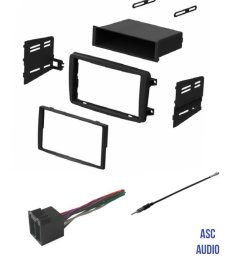 get quotations asc audio car stereo radio install dash kit wire harness and antenna adapter to [ 1200 x 1463 Pixel ]
