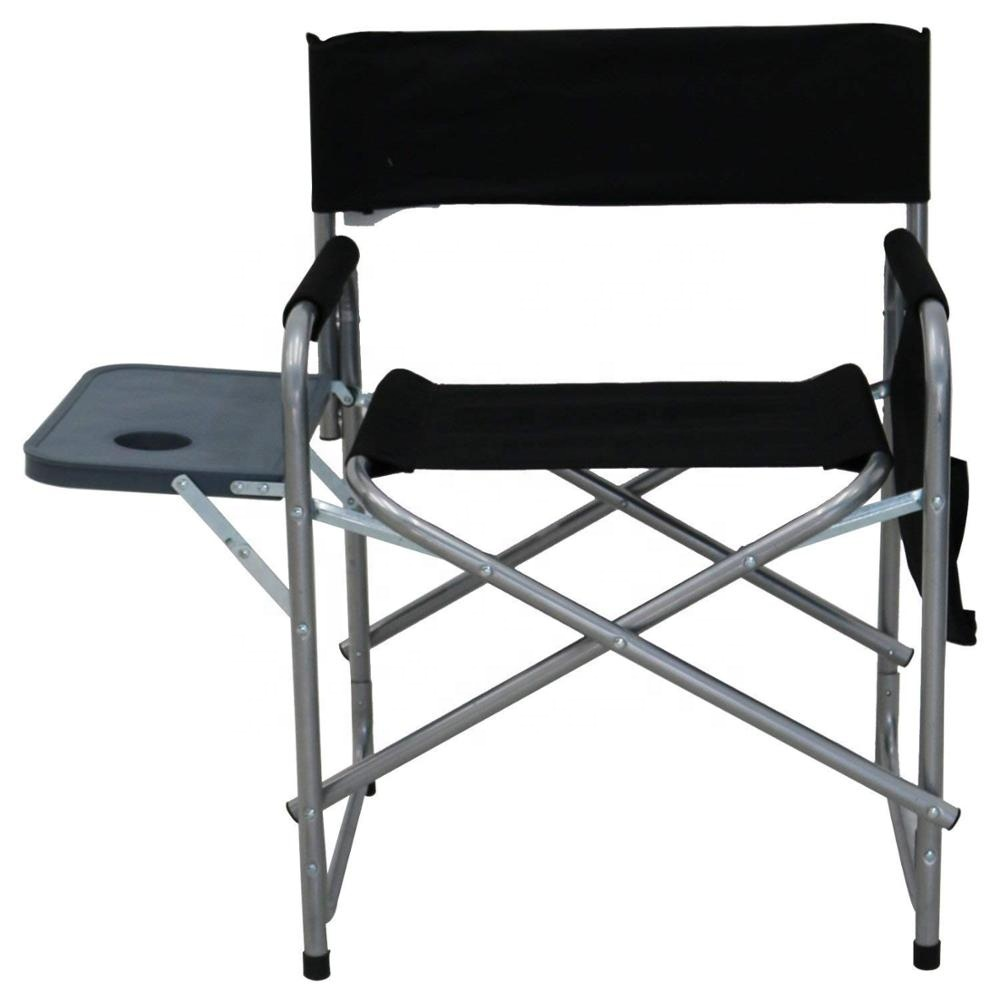 Folding Directors Chair With Side Table Outdoor High Quality Portable Cheap Lightweight Canvas Tall Folding Foldable Camping Aluminum Director Chair With Side Table Buy Director