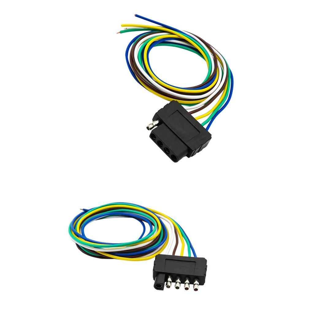 hight resolution of get quotations dovewill 2 pieces car trailer light wiring harness 5 pin plug flat wire connectors