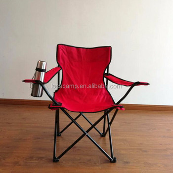 fishing chair with arms lacquer dining chairs hotsale metal portable folding camping cup holder on arm rest