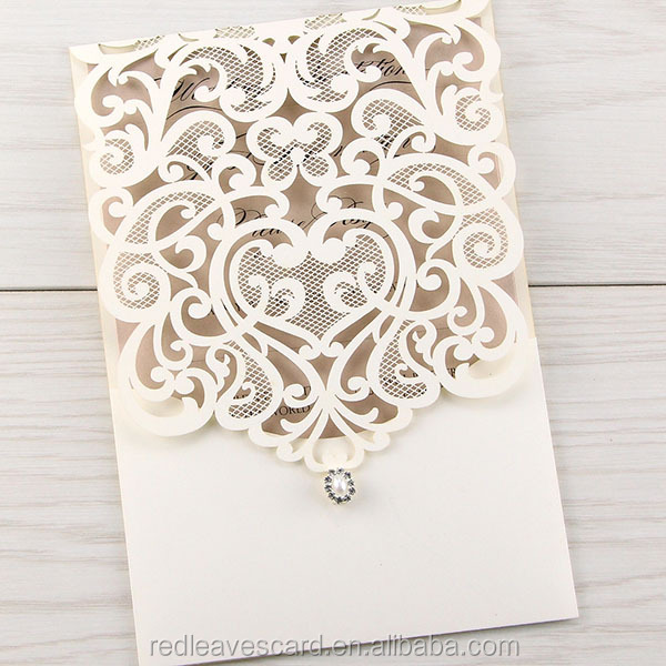 Laser Cut Pop Up Wedding Invitation Cards