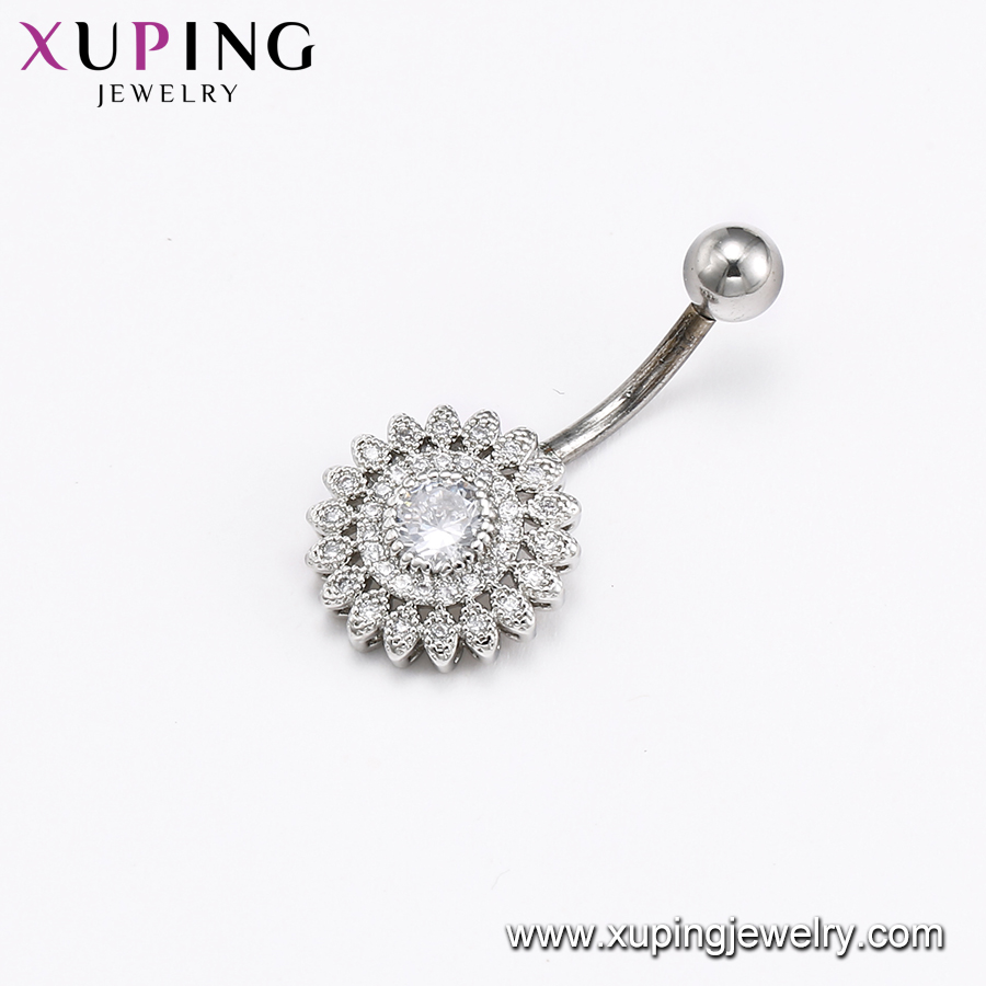 D-67 Xuping Navel Ring Dangle Belly Button Piercing
