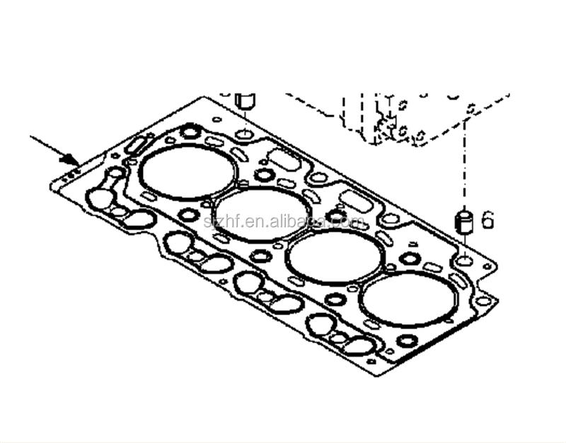 Deutz Bf4m2012 Diesel Engine Cylinder Head Gasket 04284065