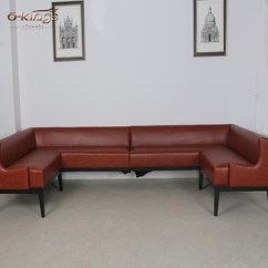 U Shaped Sofa Leather Bed For Child Shape Booth Sectional