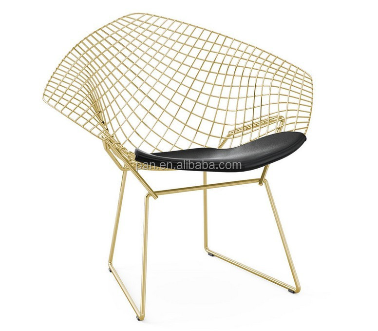 diamond chair replica baby high attach to table classic modern design designer furniture rose gold wire
