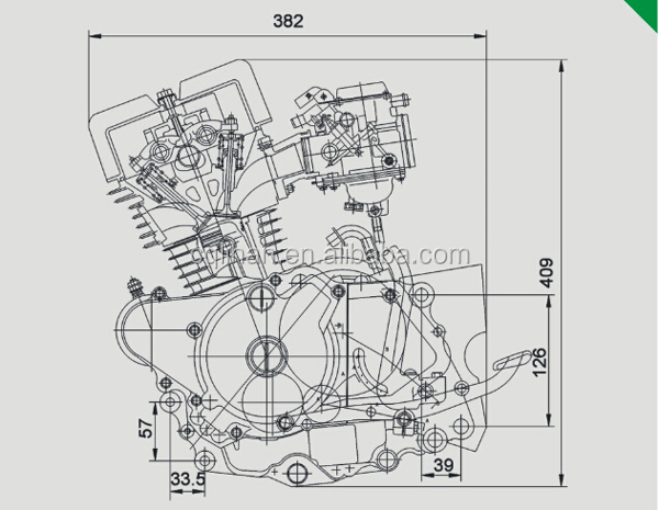 Loncin Cbt250 250cc Double Cylinder Motorcycle Engine