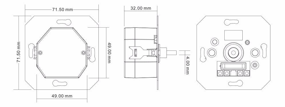 AC DALI MCU rotary dimmer SR-2400RL-NF, View Knob DALI MCU