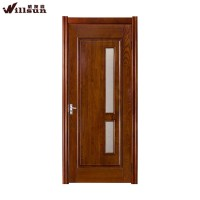 2015 New Design Solid Wood Door With Glass For Interior ...