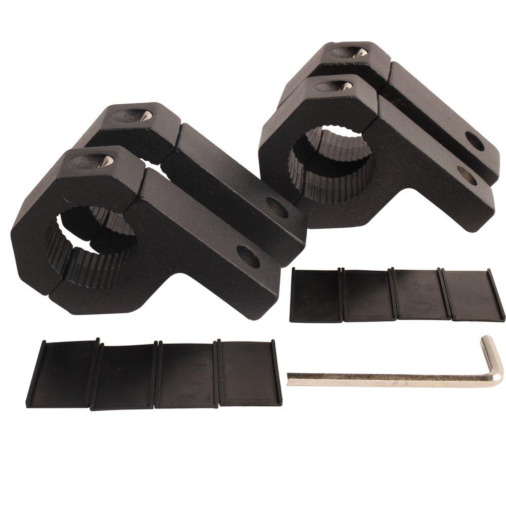 medium resolution of get quotations house tuning 4pcs 1 inch light bar clamp roll bar mounts tube clamps horizontal bar