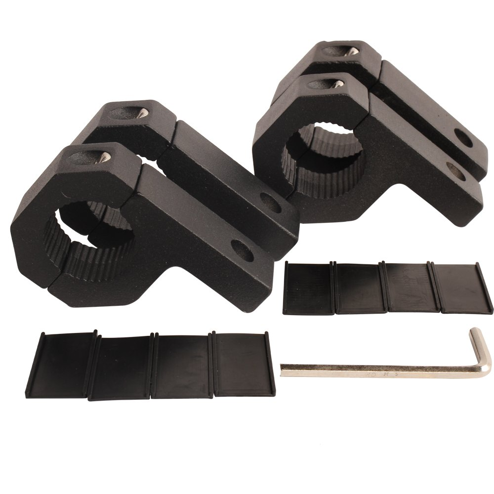 hight resolution of get quotations house tuning 4pcs 1 inch light bar clamp roll bar mounts tube clamps horizontal bar