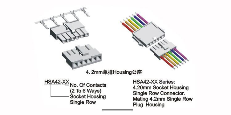 Single/dual Row Molex 5559 2p 3p 4p 5p 6p Male Housing