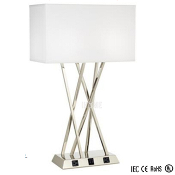 Hotel Table Lamps With Electrical Outlets