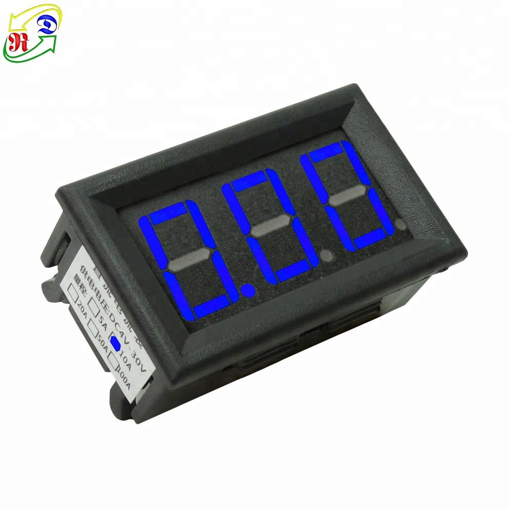 hight resolution of rd 3 digit dc four wires led display 0 10a amp current panel meter digital panel analog ammeter
