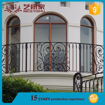 Yishujia Factory Metal Balcony Rail For Hotel Lowes Wrought Iron | Lowes Exterior Wrought Iron Railings | Balusters | Deck Railing | Stair Parts | Staircase | Versarail