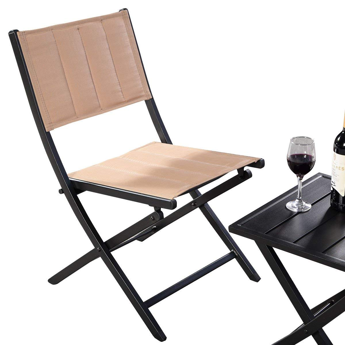 step 2 chair how to install rail cheap table and chairs set find get quotations kchex 3pcs furniture outdoor patio folding square bistro garden our 3