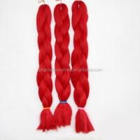 Red Braiding Hair