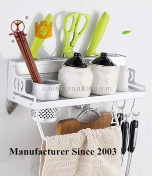 kitchen utensils holder floor tiles ideas aluminum wall mounted cans spice rack with hook buy aluminium accessory