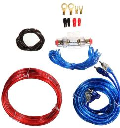get quotations shantan universal car auto complete amplifier wiring kit gauge for speakers subwoofers audio amp subwoofer cable [ 1001 x 1001 Pixel ]