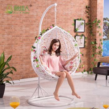 swing chair for bedroom desk no wheels uk round egg shape outdoor indoor wicker rattan hanging