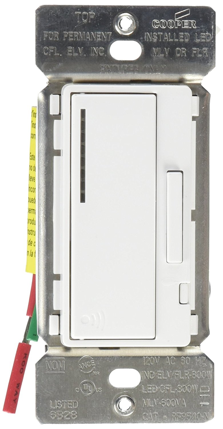 hight resolution of get quotations eaton s wiring devices rf9540 ndw aspire 600w all load rf smart dimmer system master