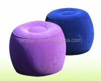 Flocked Pvc Inflatable Throne Chair Round Sofa Furniture ...