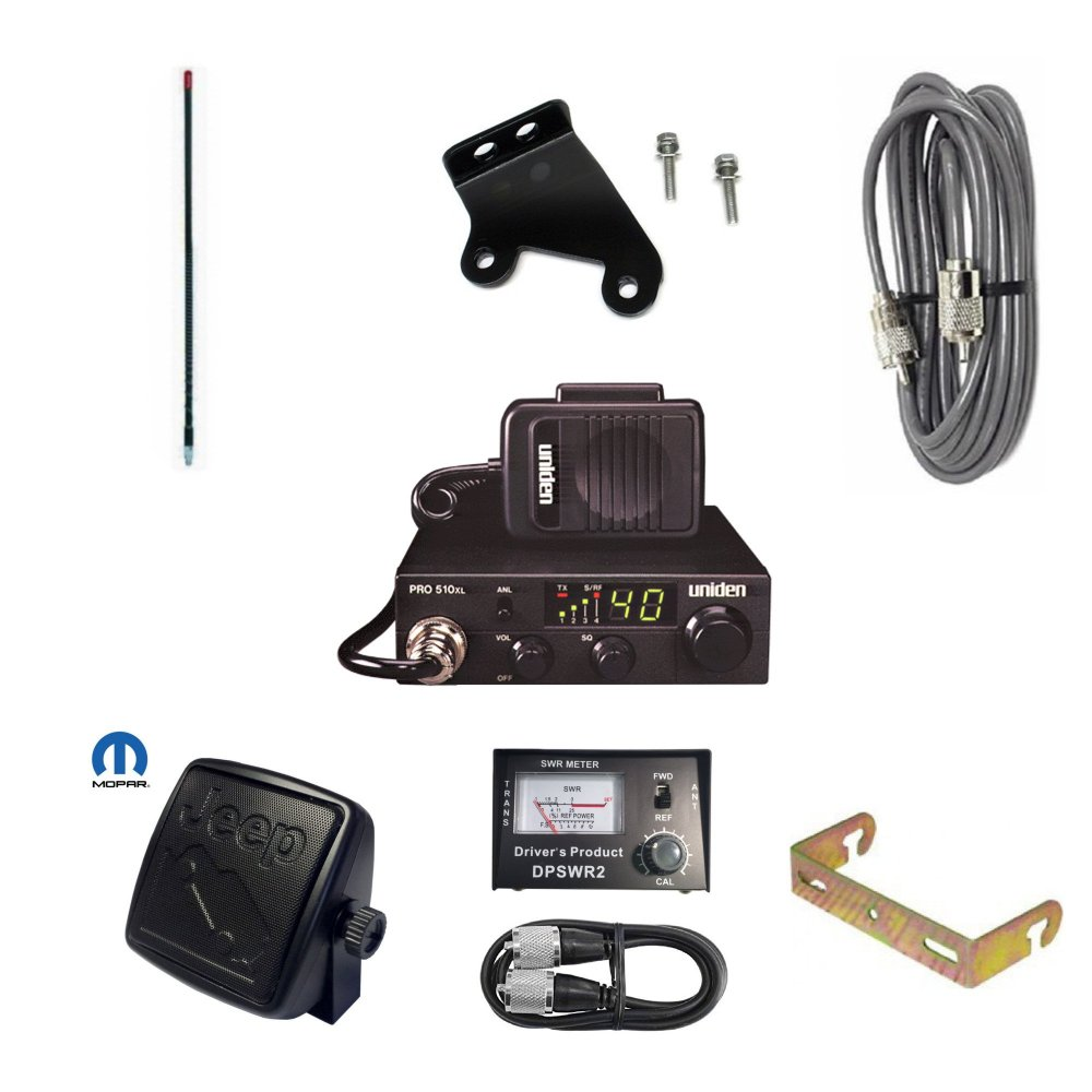 medium resolution of get quotations pro trucker jk jeep cb radio kit with cb radio firestik antenna radio mount