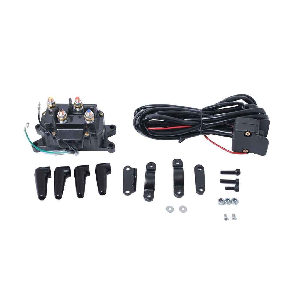 hight resolution of get quotations 12v motorcycle atv utv winch relay solenoid contactor with rocker switch handlebar control line chilie