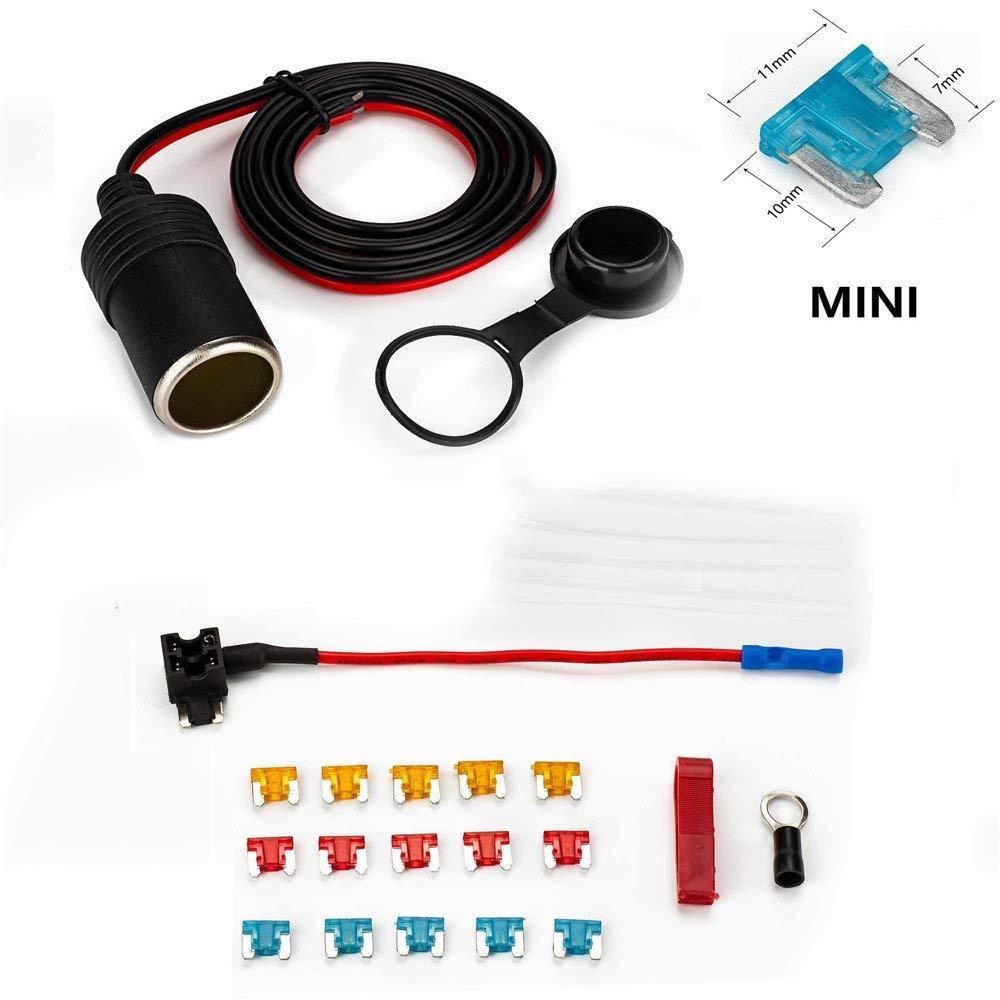 medium resolution of get quotations car cigarette lighter jtron 1set 1m car cigarette lighter adapter add a circuit