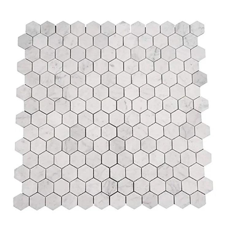 italian carrara white hexagon honeycomb carrera marble mosaic tiles for bathroom kitchen wall floor backsplash tile buy hexagon honeycomb carrera