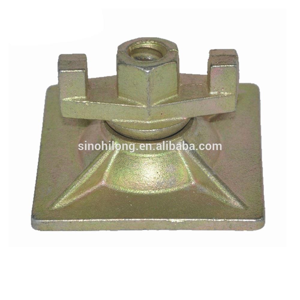 medium resolution of formwork tie rod swivel wing nut nut plate