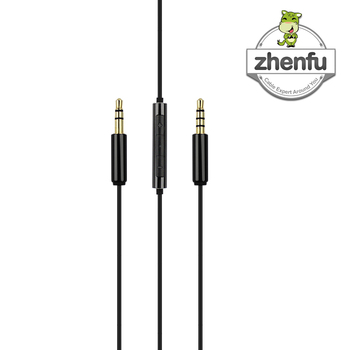 Audio Aux Cable Black 3.5mm Stereo Plug To 3.5mm 4pole