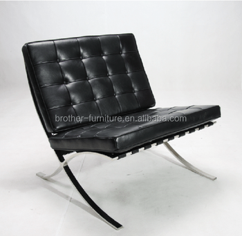 barcelona chair leather sunbrella lounge replica designer furniture sofa from guangdong factory