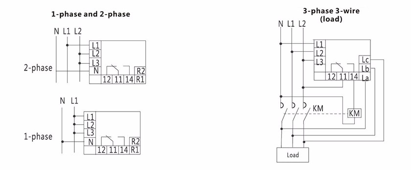 3 Phase Ac Relay Phase Sequence Phase Failure Over Under