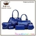 Handbags women fashion bags ladies handbag sets 6pcs in 1 designer