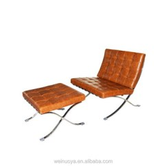 Barcelona Chair Leather Replacement Cushions For Wicker Chairs Replica Mies Van Der Rohe With Italian Upholstery
