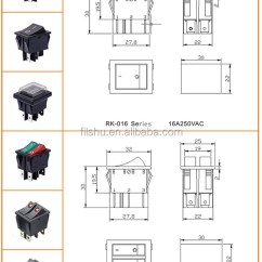 6 Pin Rocker Switch Wiring Diagram Ford Ranger Diagrams Kcd2 Double Boat On Off With Green Red Light 20a 125vac