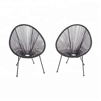 metal papasan chair folding ntuc all weather resort grade outdoor patio black sun wicker